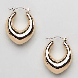 ASOS Liars & Lovers Gold Teardrop Hoop Earrings